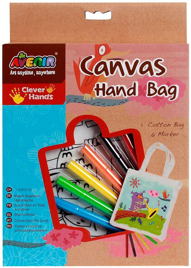 Набор для раскрашивания сумки из холста - ПтичкаРоспись по холсту<br>Набор для раскрашивания сумки из холста - Птичка<br>