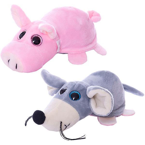 Купить Мягкая игрушка-перевертыш – Поросёнок/Мышка, 16 см, Teddy
