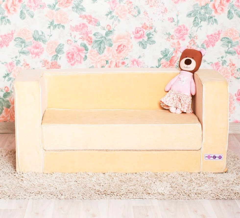 Раскладной игровой диванчик, бежевыйДетские кровати и мягкая мебель<br>Раскладной игровой диванчик, бежевый<br>