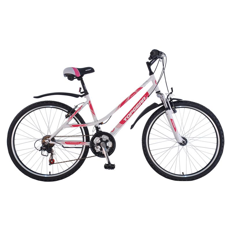 Купить Горный двухколесный велосипед Style 210, бело-розовый, Topgear