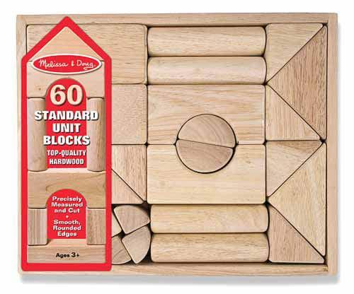 Набор деревянных блоков, 60 деталейДеревянный конструктор<br>Набор деревянных блоков, 60 деталей<br>