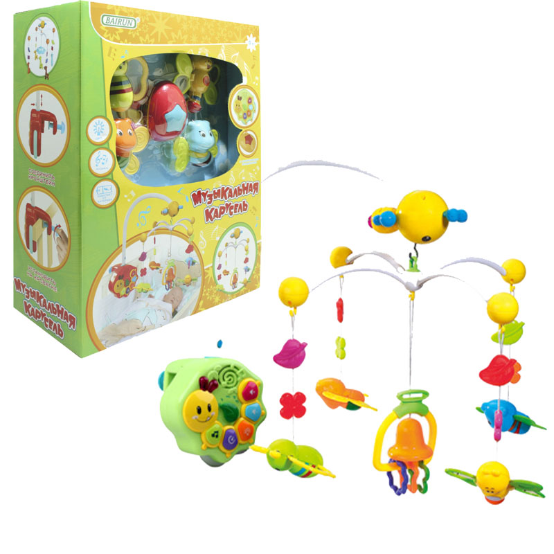 Музыкальная карусель  Бабочки - Мобили и музыкальные карусели на кроватку, игрушки для сна, артикул: 166445