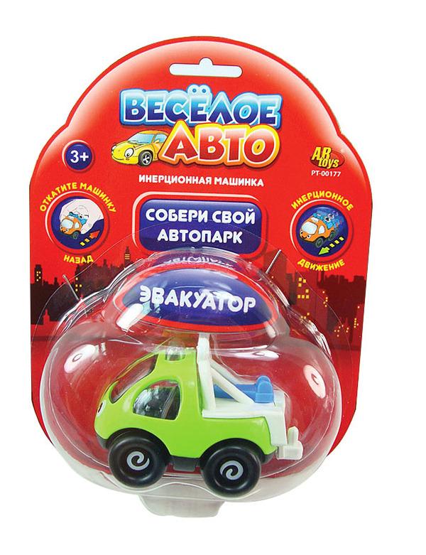 Инерционная машинка серии Весёлое авто - ЭвакуаторМашинки для малышей<br>Инерционная машинка серии Весёлое авто - Эвакуатор<br>