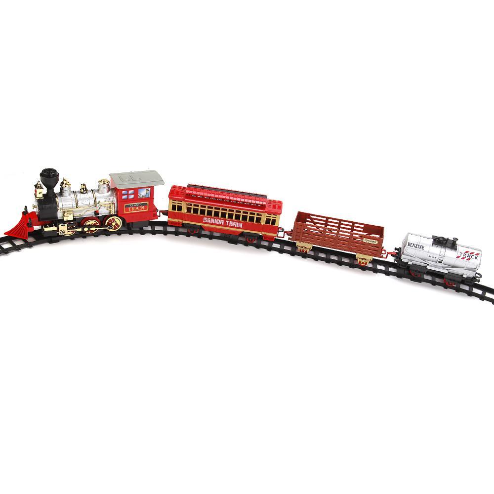 Купить Железная дорога с дымом, светом и звуком, длина полотна – 412 см.