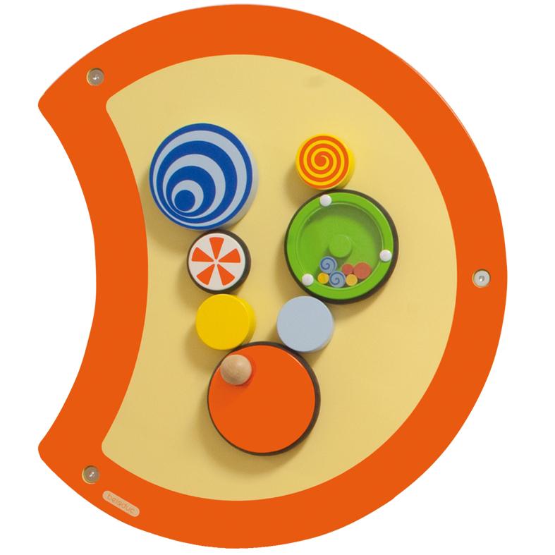 Настенный игровой элемент Гусеница - ВолчокРазвивающие центры<br>Настенный игровой элемент Гусеница - Волчок<br>