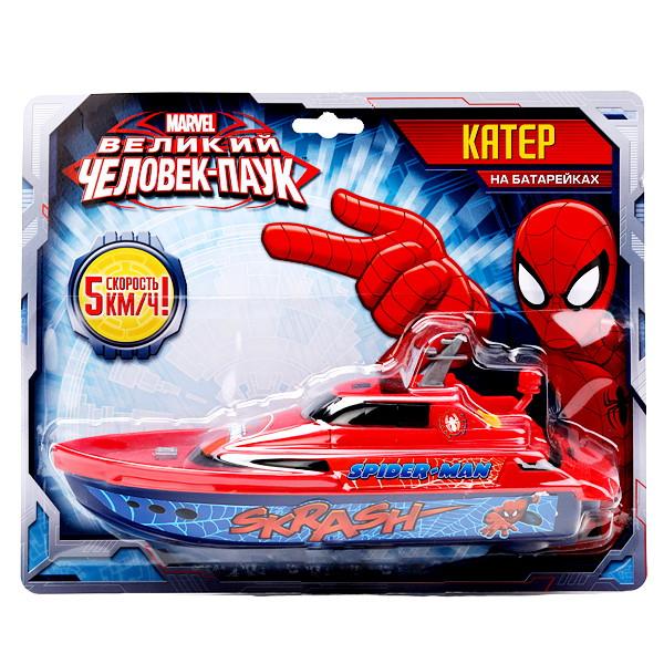 Катер «Спайдермен» на батарейкахИгрушки для ванной<br>Катер «Спайдермен» на батарейках<br>