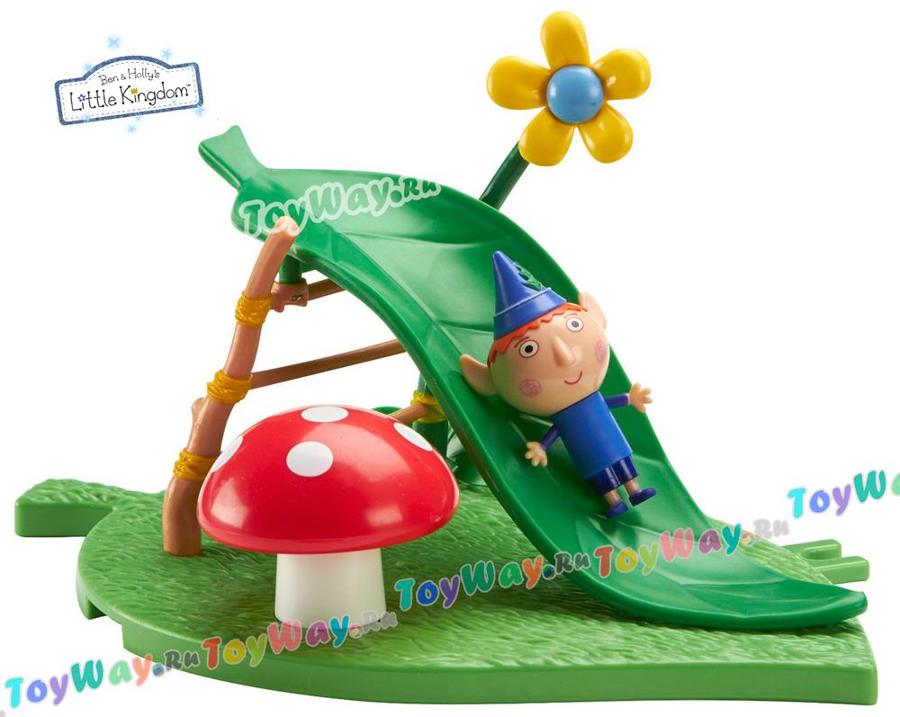 Купить Игровая площадка - Горка с фигуркой Бена из серии Маленькое королевство Бена и Холли, Росмэн