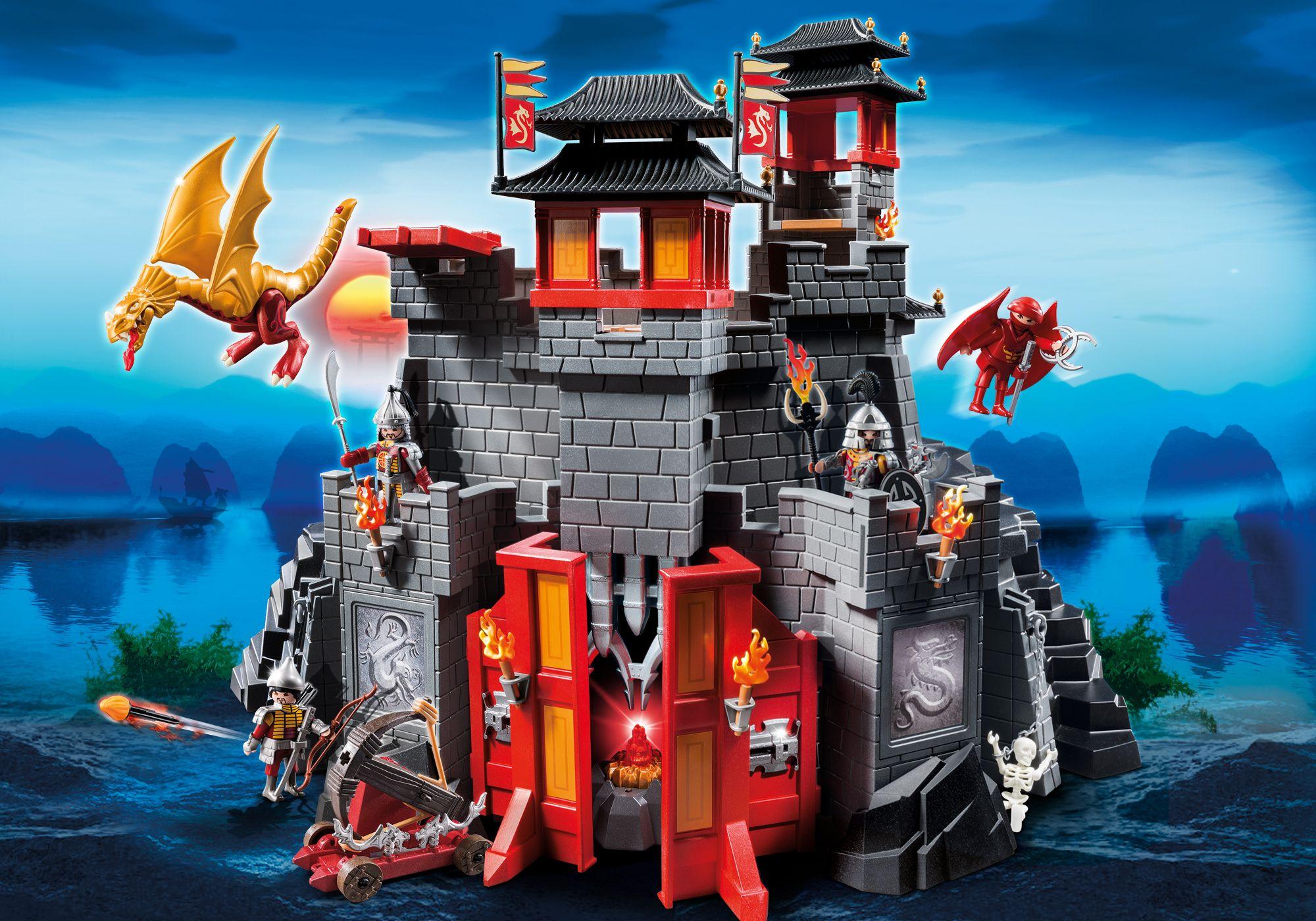 «Азиатский дракон» - Восточный замок с золотым ДракономДраконы и рыцари<br>«Азиатский дракон» - Восточный замок с золотым Драконом<br>