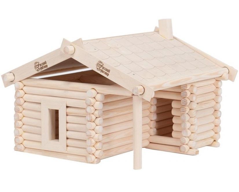 Конструктор деревянный  Изба - Деревянный конструктор, артикул: 158080