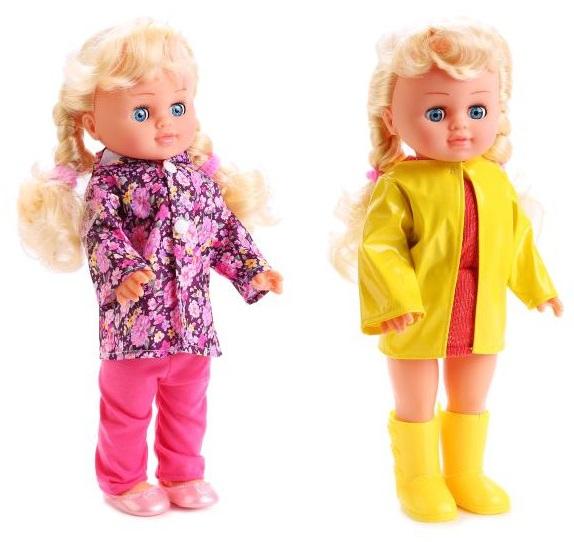 Кукла Полина 35 см., поет песенку и читает стих, с кольцом и резиночками, 2 видаКуклы Карапуз<br>Кукла Полина 35 см., поет песенку и читает стих, с кольцом и резиночками, 2 вида<br>