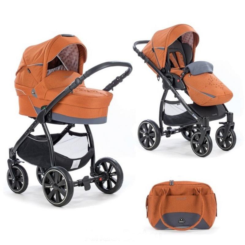 Купить Коляска детская 2 в 1 - Polaris Comfort, Pumpkin, Noordi