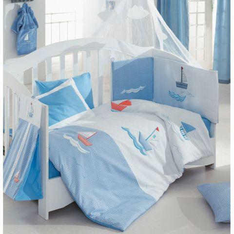 Комплект постельного белья из 3 предметов серия Blue MarineДетское постельное белье<br>Комплект постельного белья из 3 предметов серия Blue Marine<br>