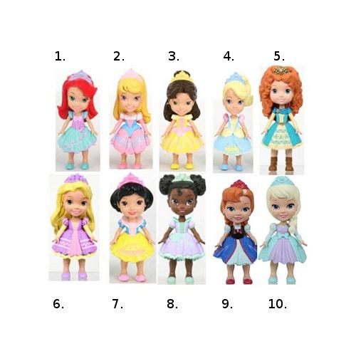 Кукла-малышка серии Принцессы Дисней, Disney Princess, 7,5 смКуклы Disney: Ариэль, Золушка, Белоснежка, Рапунцель<br>Кукла-малышка серии Принцессы Дисней, Disney Princess, 7,5 см<br>