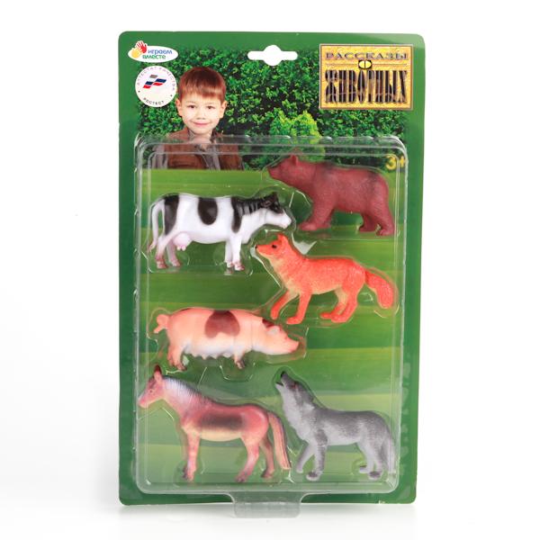 Набор из 6-и фигурок домашних и лесных животных, 10 см.Лесная жизнь (Woodland)<br>Набор из 6-и фигурок домашних и лесных животных, 10 см.<br>