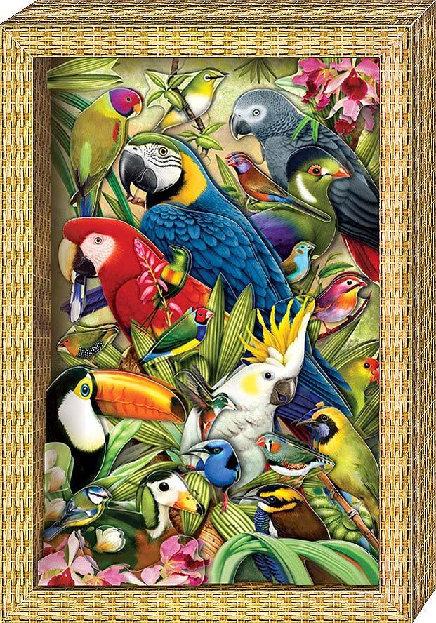 Набор для изготовления картины - Я люблю птичекАппликация, пайетки<br>Набор для изготовления картины - Я люблю птичек<br>