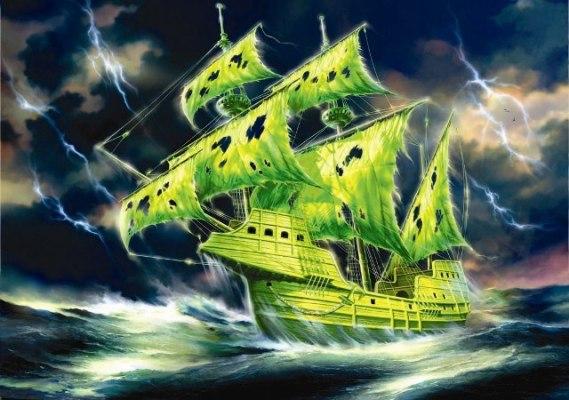 Модель для склеивания - Корабль Летучий ГолландецМодели кораблей для склеивания<br>Модель для склеивания - Корабль Летучий Голландец<br>