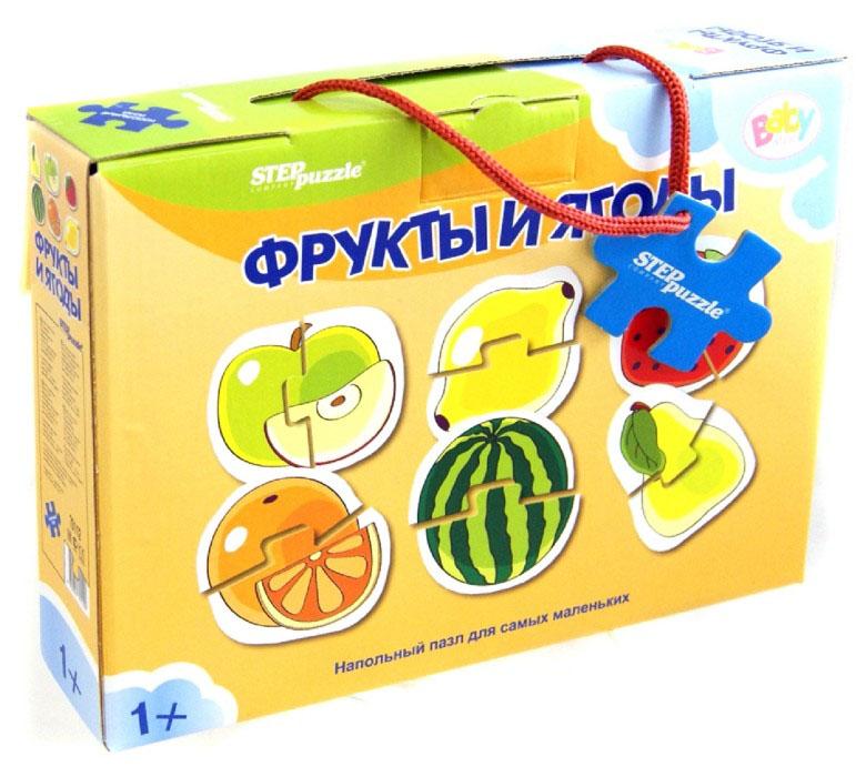 Напольный пазл - Фрукты и ягоды, 12 элементовПазлы для малышей<br>Напольный пазл - Фрукты и ягоды, 12 элементов<br>