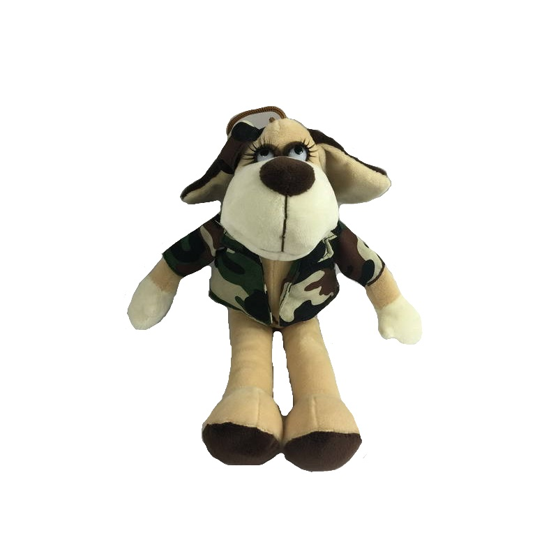 Собака в камуфляжном костюме, 18 смСобаки<br>Собака в камуфляжном костюме, 18 см<br>