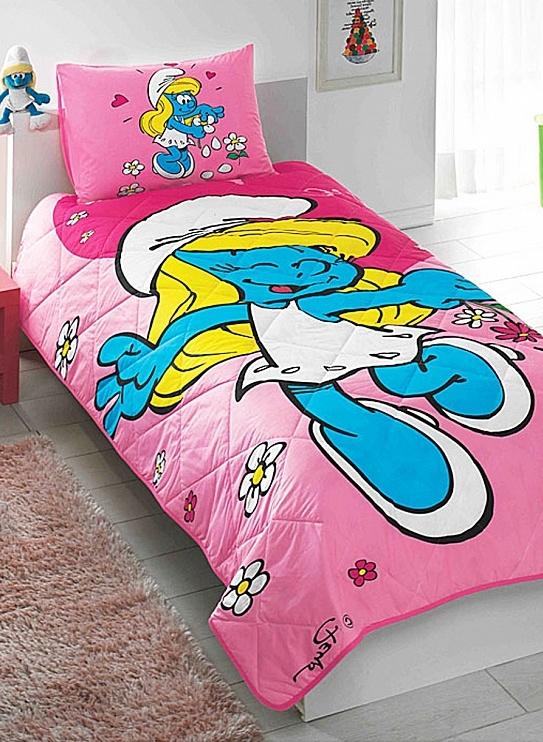 Детское покрывало, 1,5 спальное  SIRINE/СмурфикиДетские покрывала и пледы<br>Детское покрывало, 1,5 спальное  SIRINE/Смурфики<br>