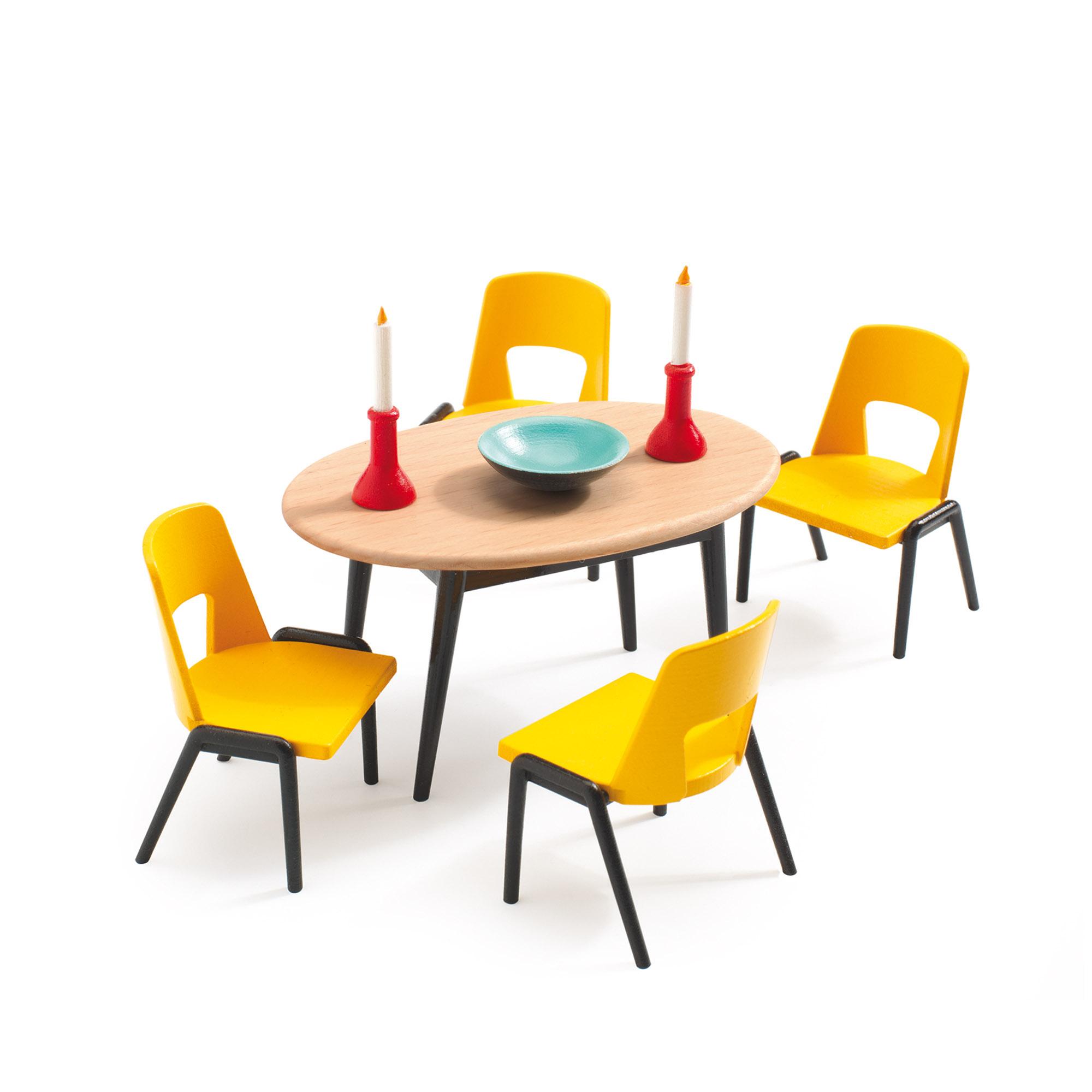 Мебель для кукольного дома Столовая