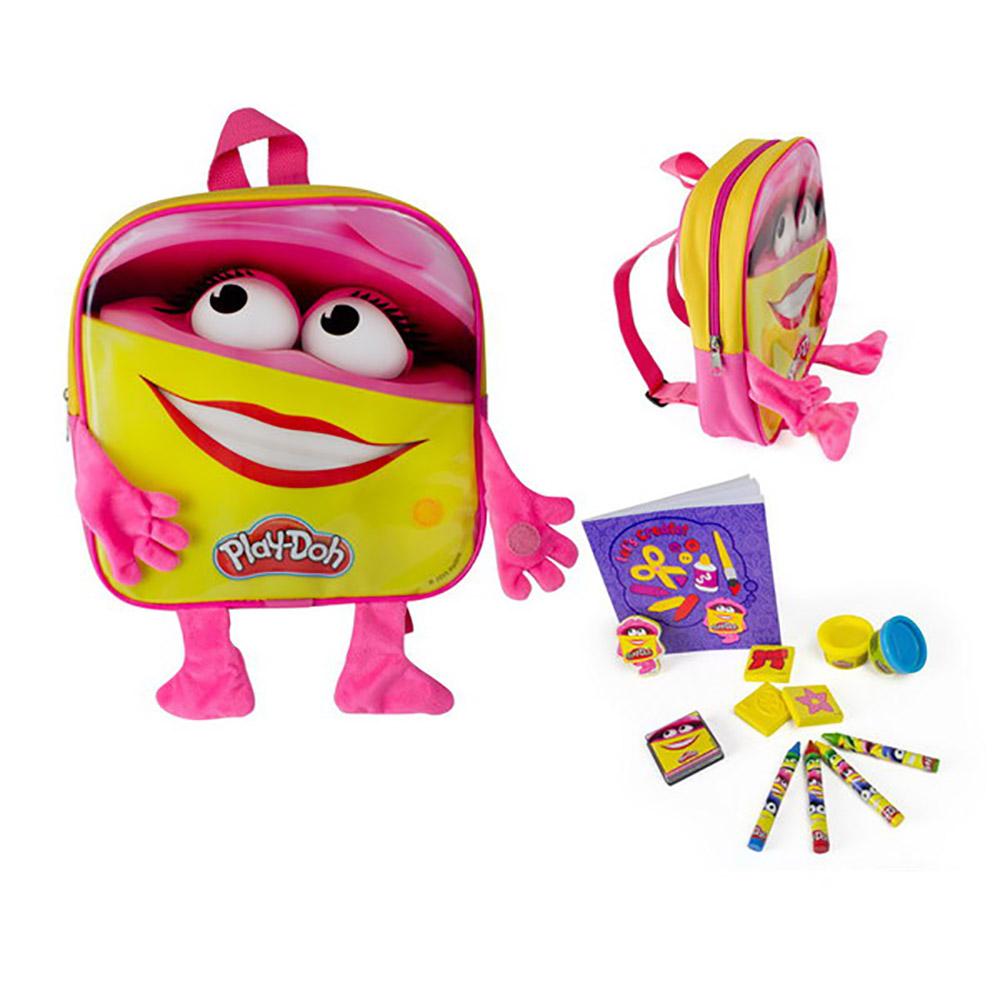 Набор Play doh - Рюкзачок для девочки с плюшевыми ручками и ножкамиПластилин Play-Doh<br>Набор Play doh - Рюкзачок для девочки с плюшевыми ручками и ножками<br>