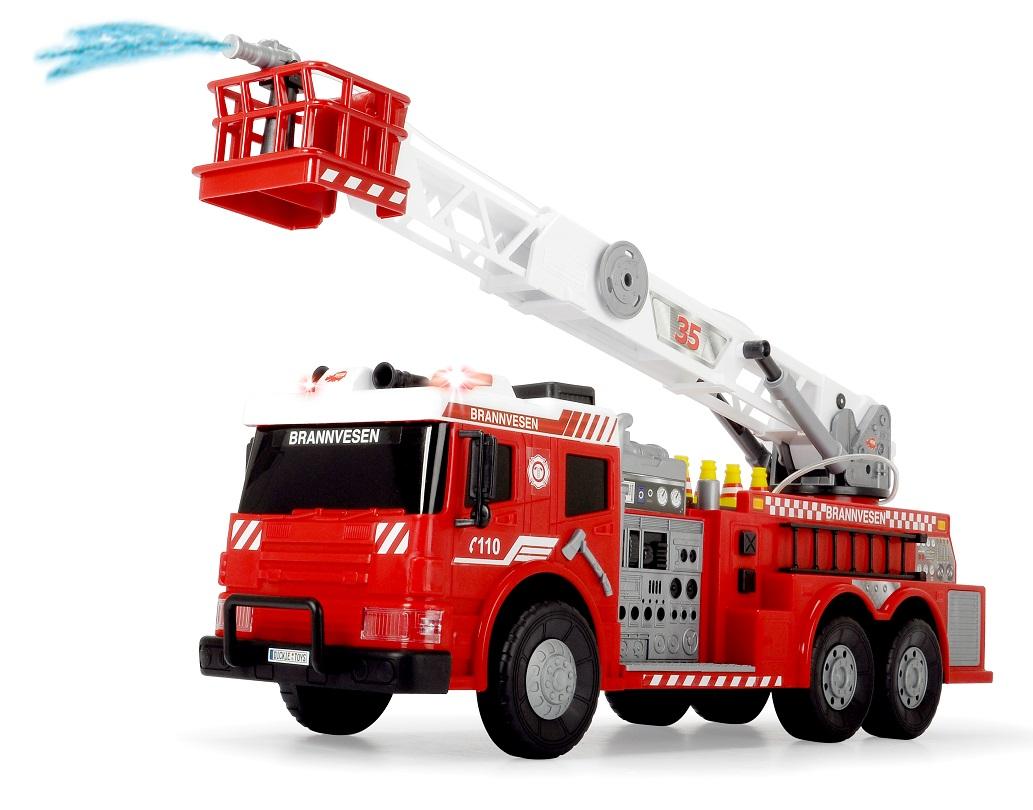 Пожарная машина с водой, 62 см., свет, звук, аксессуарыПожарная техника, машины<br>Пожарная машина с водой, 62 см., свет, звук, аксессуары<br>