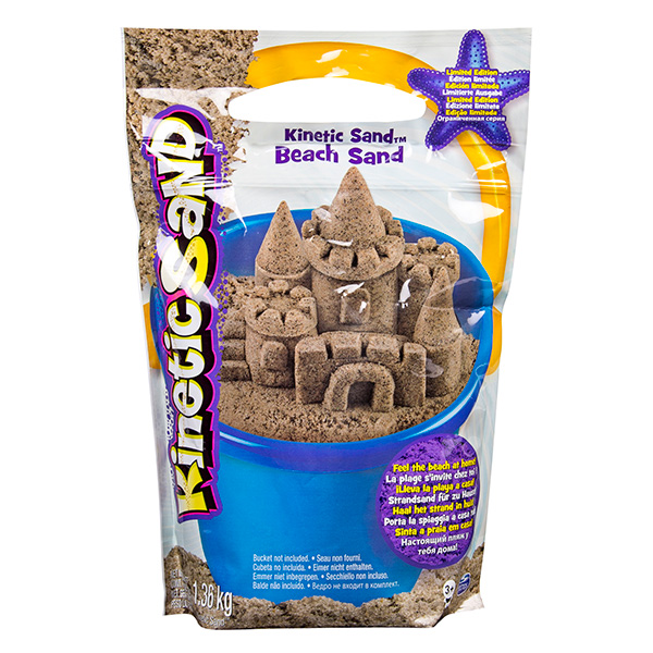 Кинетический песок для лепки - Морской песок коричневый, 1, 4 кг.