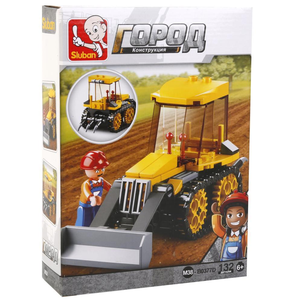 Конструктор – Трактор с фигуркой 132 детали.