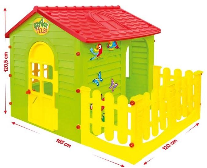 Купить Детский игровой домик с забором, Mochtoys