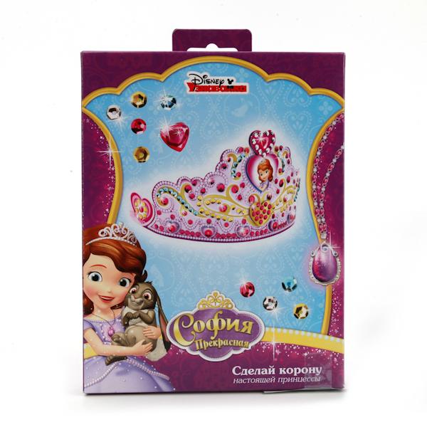 Набор для творчества Disney София Прекрасная - Корона для декорирования с пайетками от Toyway
