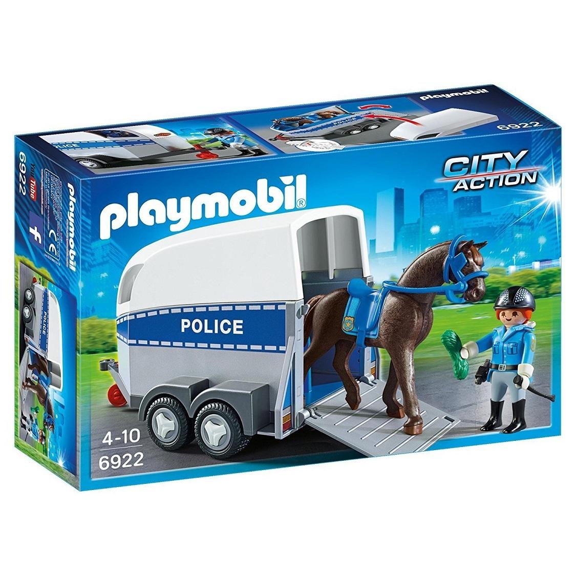 Купить Игровой набор из серии Полиция: Полиция с лошадью и прицепом, Playmobil