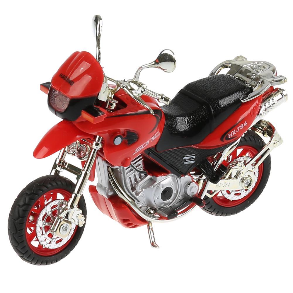 Мотоцикл Эндуро 14 см, свет-звук, выдвижная подножка, вращается руль, Технопарк  - купить со скидкой