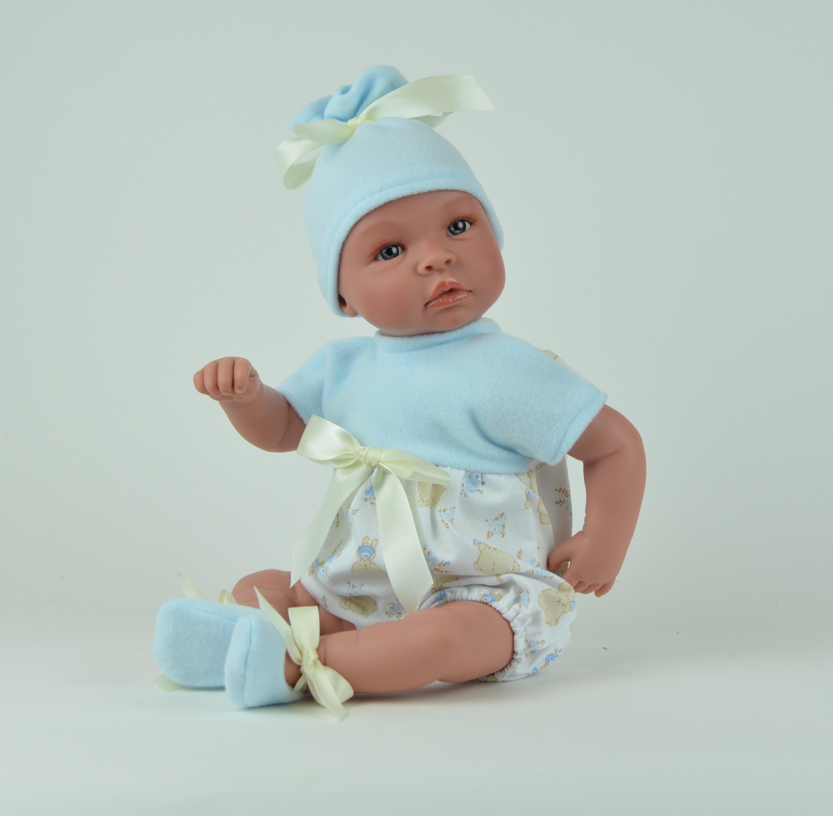 Кукла Лео в голубой шапочке, 50 см.Куклы ASI (Испания)<br>Кукла Лео в голубой шапочке, 50 см.<br>