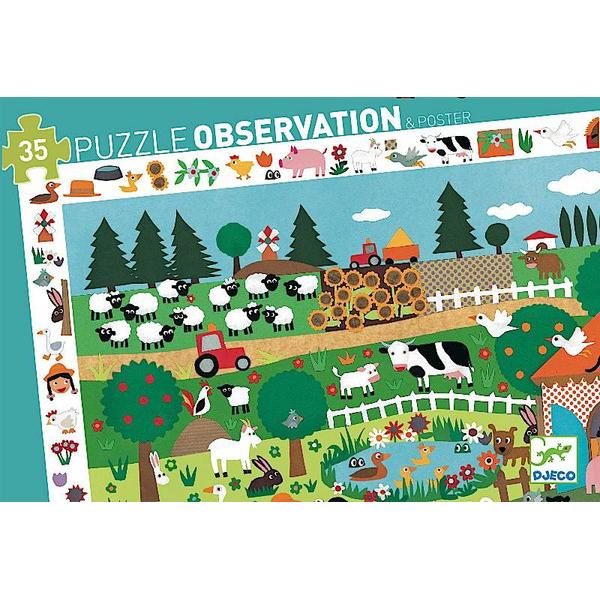 Пазл и игра на наблюдательность – ФермаПазлы до 100 элементов<br>Пазл и игра на наблюдательность – Ферма<br>