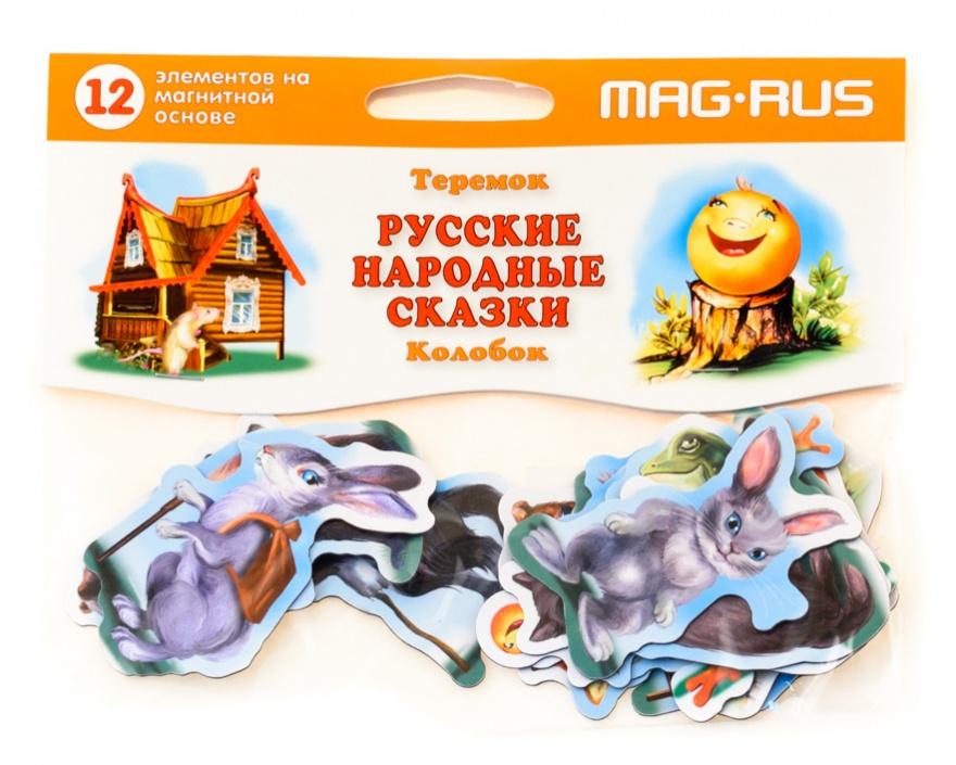 Магнитный театр - Колобок и Теремок, 12 элементовДетский кукольный театр <br>Магнитный театр - Колобок и Теремок, 12 элементов<br>
