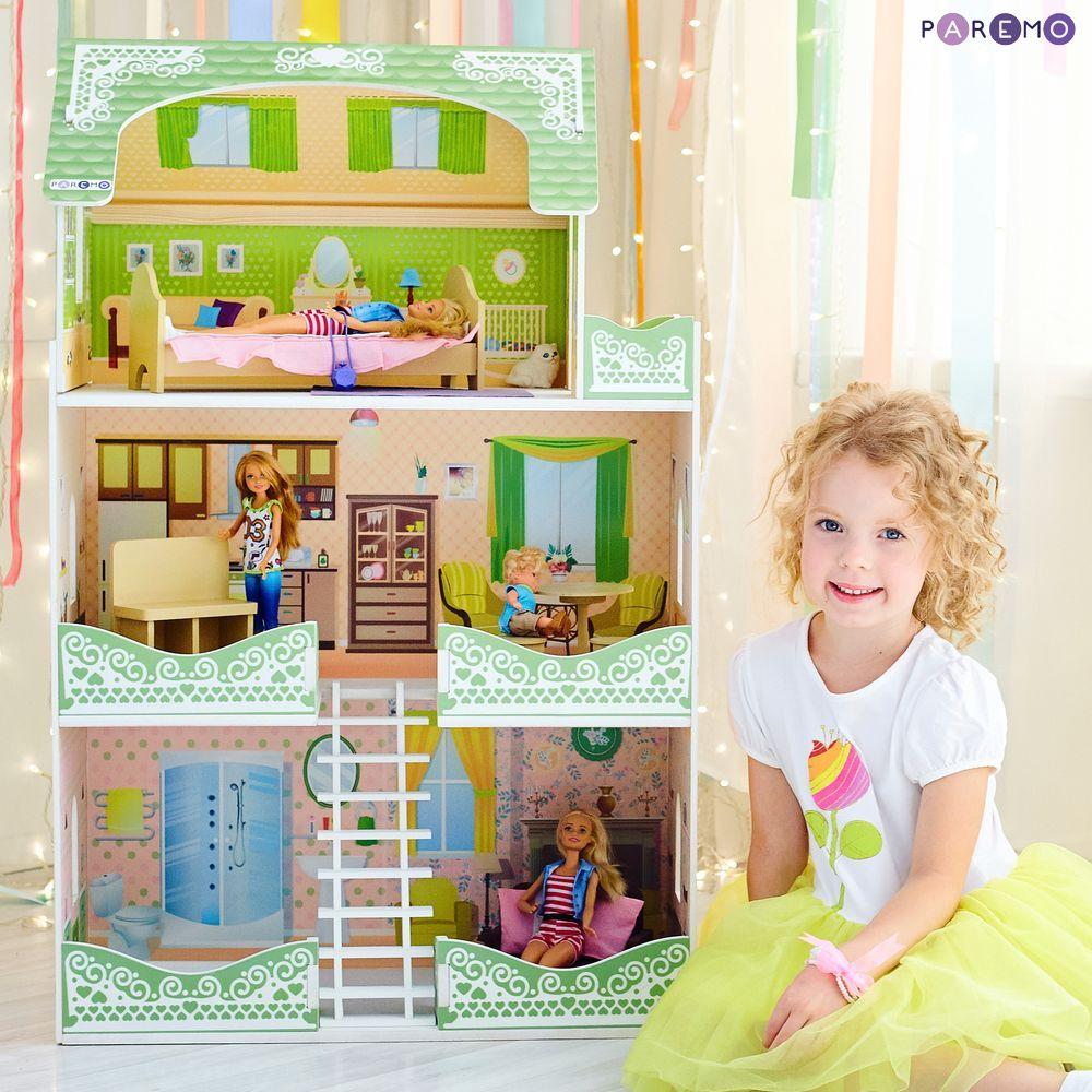 Купить Кукольный домик - Луиза Виф, с мебелью, Paremo