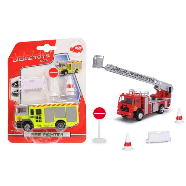 Пожарная машина, 12 см., свободный ход, 2 видаПожарная техника, машины<br>Пожарная машина, 12 см., свободный ход, 2 вида<br>