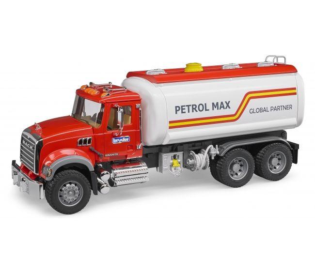 Бензовоз Bruder Mack, красная кабинаФургоны и машины<br>Бензовоз Bruder Mack, красная кабина<br>