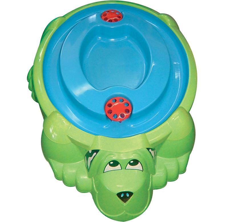 Детская пластиковая песочница мини-бассейн  Собачка с крышкой - Детские песочницы, артикул: 161054