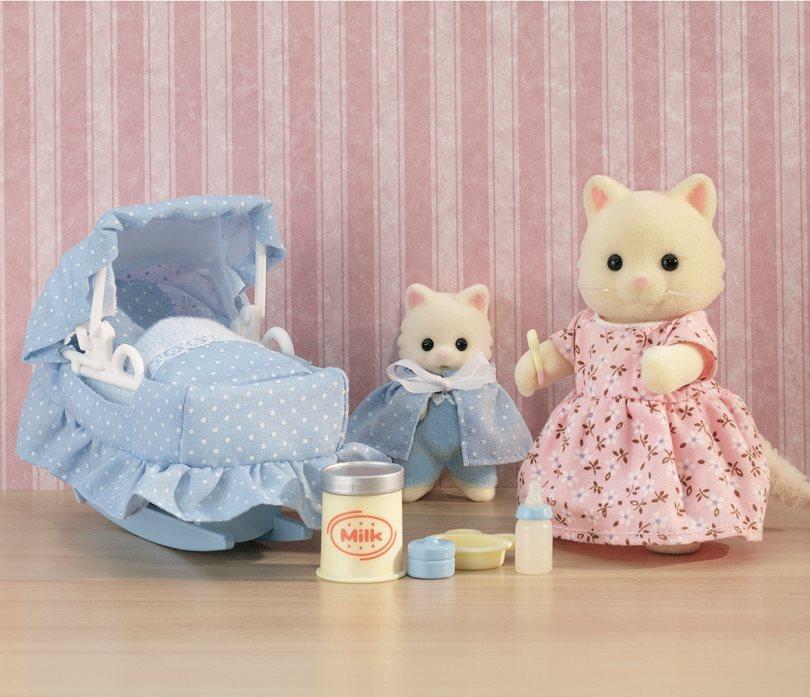 Набор - Мама с малышом и колыбелькойСемьи и малыши<br>Набор - Мама с малышом и колыбелькой<br>