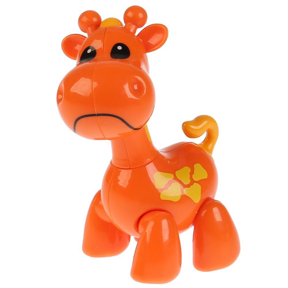Развивающая крутилка Жираф, оранжевый цвет фото