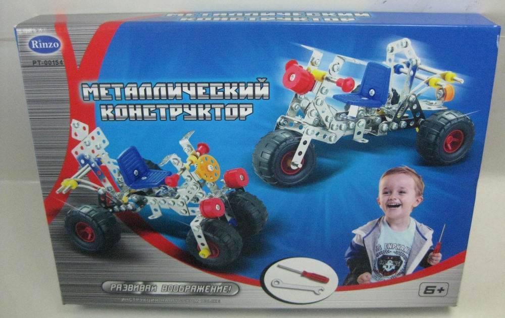Конструктор металлический мотоцикл, 201 деталь - Металлические конструкторы, артикул: 11117