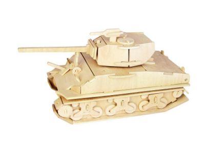 Модель деревянная сборная  Танк М-3 Стюарт - Пазлы, артикул: 170143
