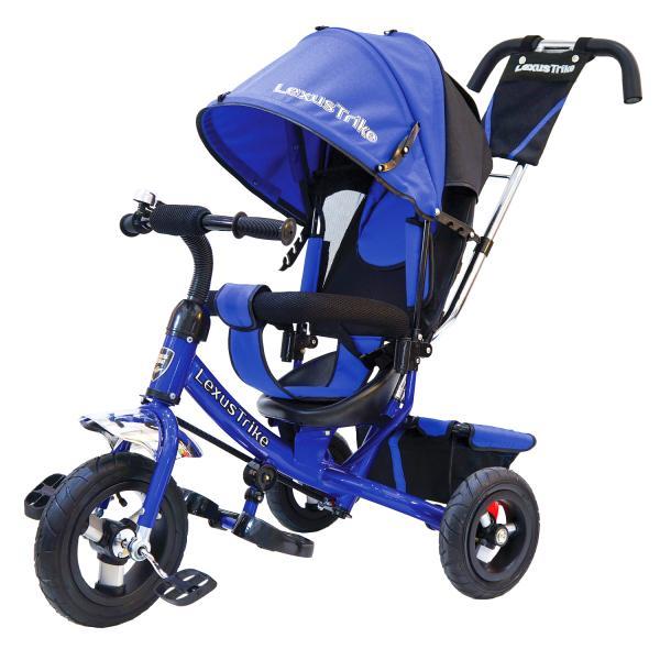 Купить Велосипед 3-колесный Lexus Trike, колеса Eva 10 и 8 , регулируемая спинка, задний тормоз, цвет - синий