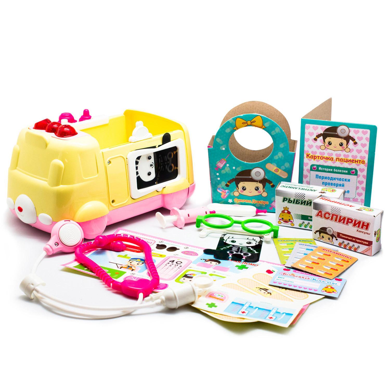 Набор Консуни - Скорая помощь, 11 предметов, звук, свет, YOUNG TOYS  - купить со скидкой