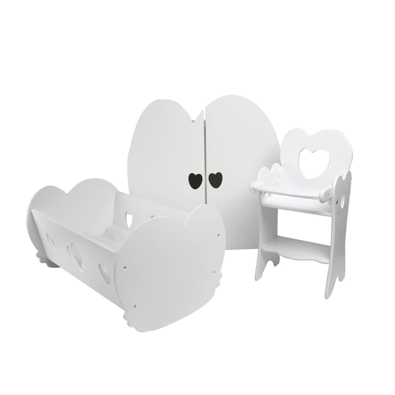 Купить Набор кукольной мебели - Мини, 3 предмета, цвет белый, Paremo