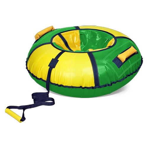 Тюбинг диаметром 95 см, цвет -  желтый/зеленыйВатрушки и ледянки<br>Тюбинг диаметром 95 см, цвет -  желтый/зеленый<br>