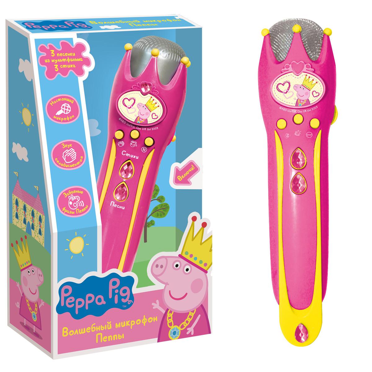 Музыкальный микрофон с усилителем ™ Peppa PigМикрофоны и танцевальные коврики<br>Музыкальный микрофон с усилителем ™ Peppa Pig<br>