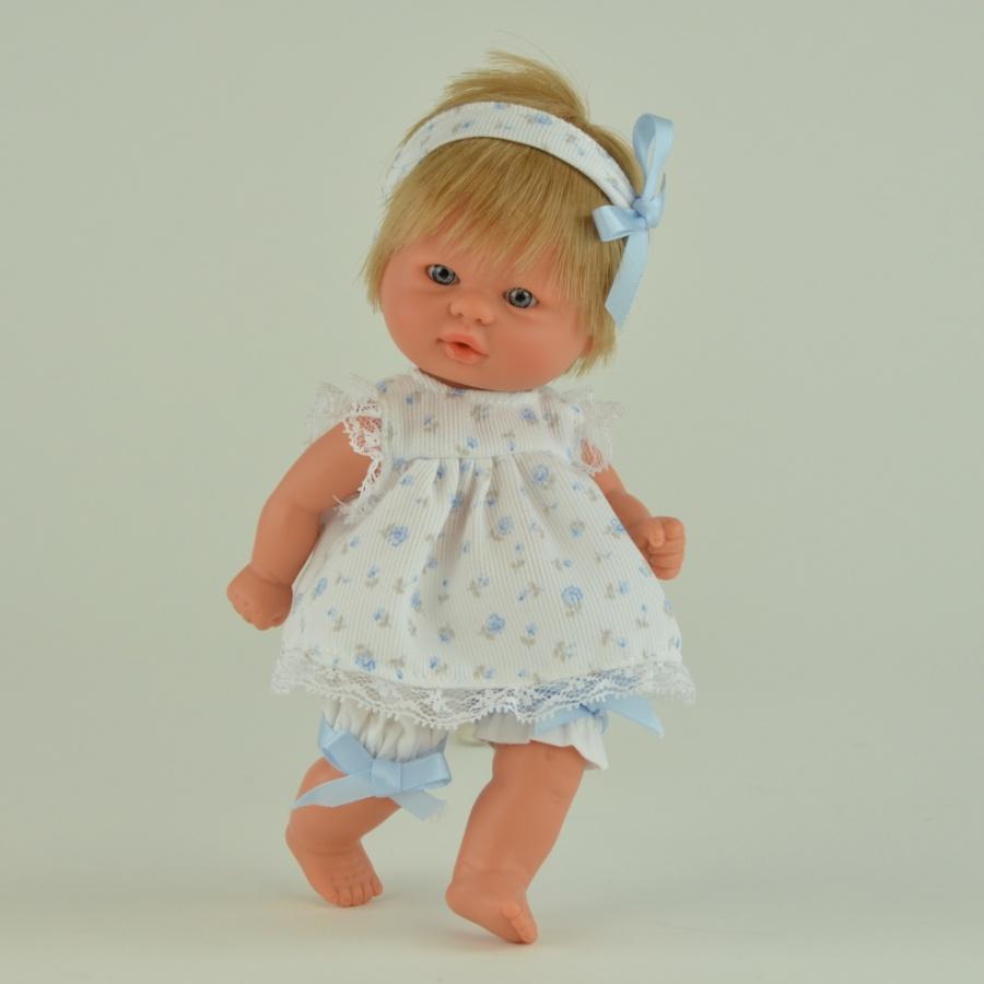 Кукла пупсик в светлом костюмчике, 20 см.Куклы ASI (Испания)<br>Кукла пупсик в светлом костюмчике, 20 см.<br>