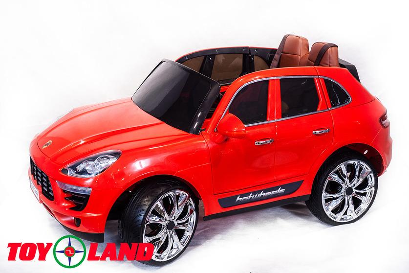 Купить Электромобиль Porsche Macan красного цвета, ToyLand